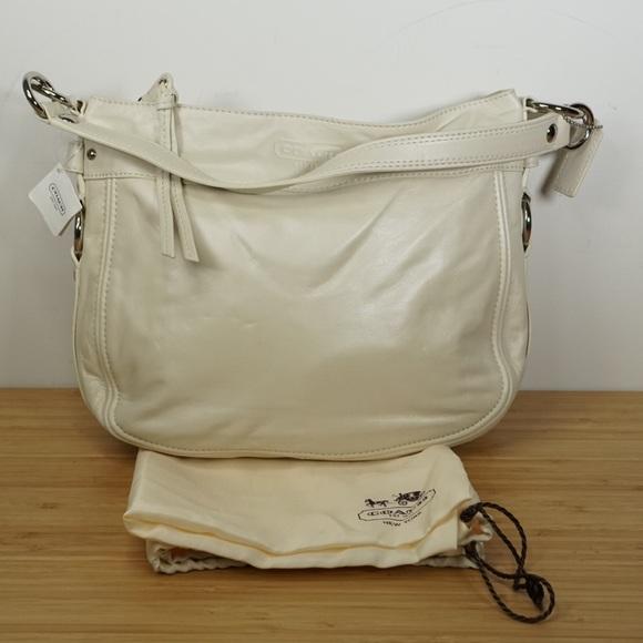 04caa2233e Coach Bags | Womens Purse Off White Leather Shoulder Bag | Poshmark
